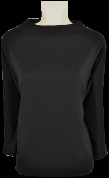 Sweat-Pullover mit 3/4 Arm in schwarz