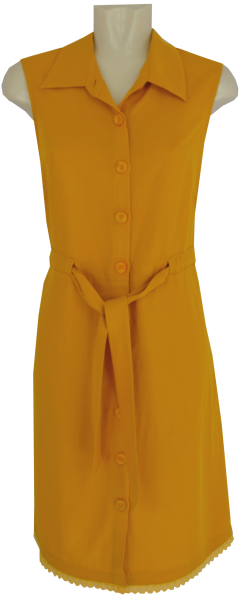 Hemdkleid in dark yellow