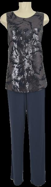 Jumpsuit in dark blue-black mit Pailletten
