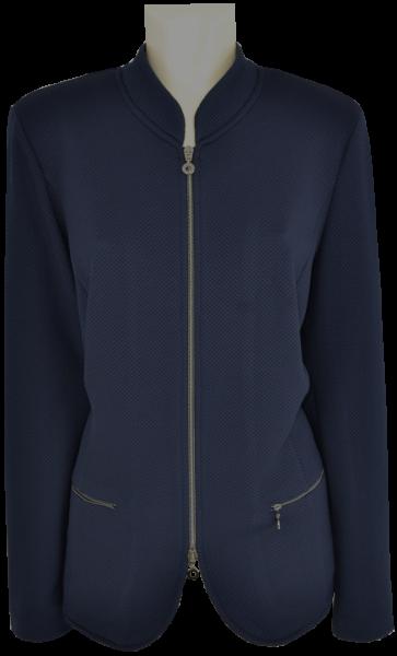 Jersey Blazer-Jacke in marine blau