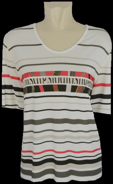1/2 Arm Shirt in mehrfarbig gemustert