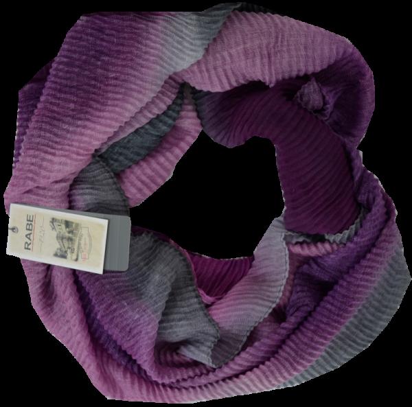 Schal in mehrfarbig gemustert mit malve