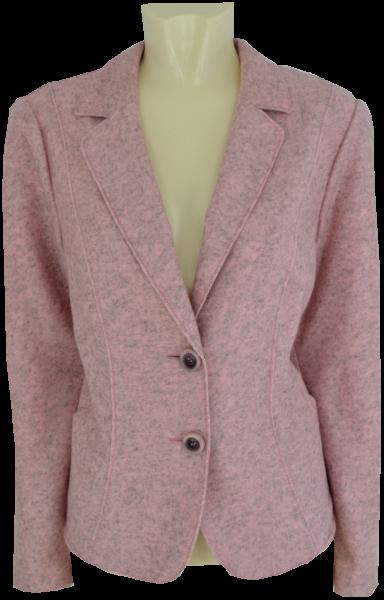 Blazer-Jacke in rose meliert und Woll Optik