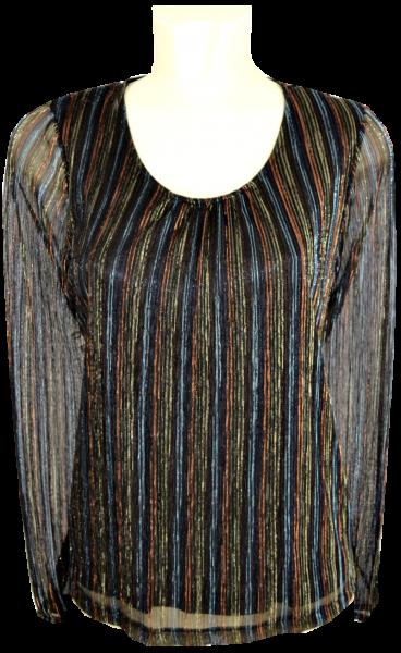 1/1 Arm Blusen Shirt mit Glanz
