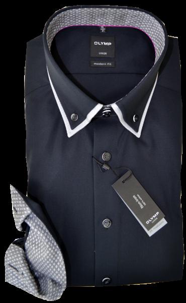 Business Hemd in schwarz mit Ausschmückung am Kragen