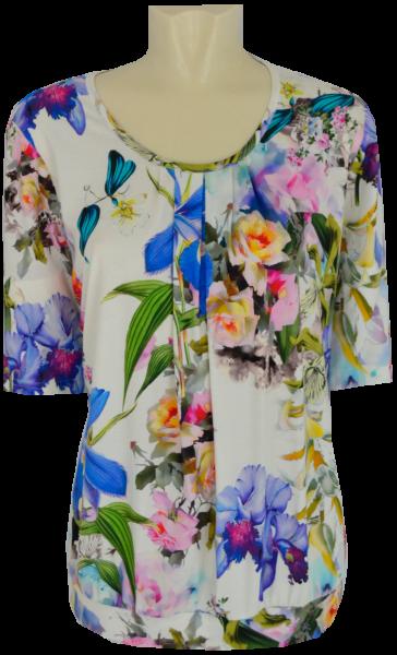 1/2 Arm Blusen Shirt ín floral gemustert