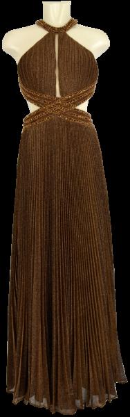 Ballkleid lang in brown