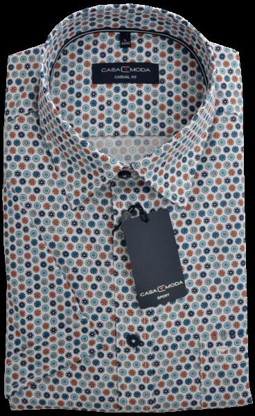 1/2 Arm Freizeithemd in mehrfarbig Retro gemustert