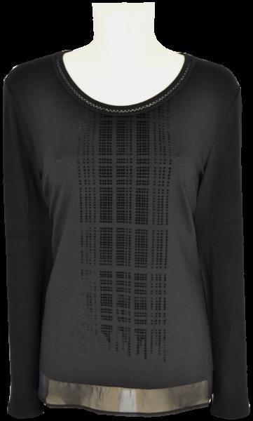 1/1 Shirt in schwarz mit Glanz