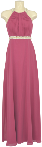 Langes Ballkleid in pink-red