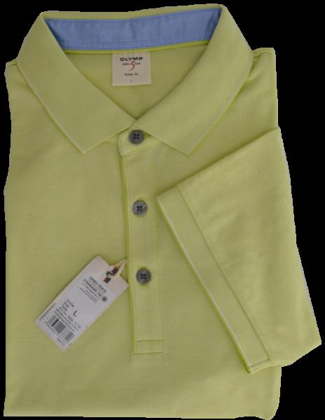 1/2 Arm Polo Shirt in gelb meliert