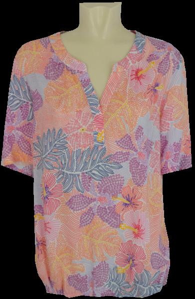 1/2 Arm Blusen Shirt mit floralem Druck