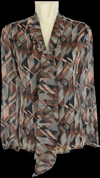 1/1 Arm Blusen Shirt mit Schluppe