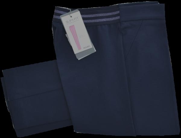 Schmal geschnittene Jersey Hose in dunkel blau