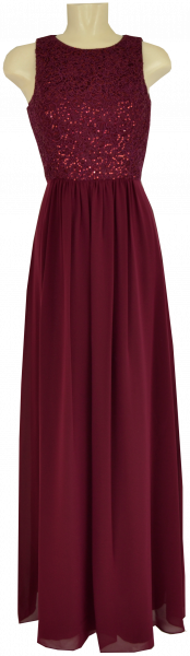 Ballkleid lang in camine-red