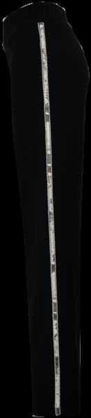 Elegante Hose in schwarz mit Pailletten Ziernaht