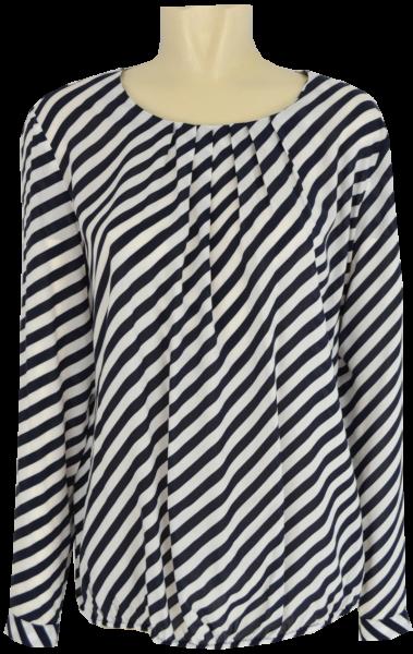 1/1 Arm Blusen Shirt in marine-weiß gestreift
