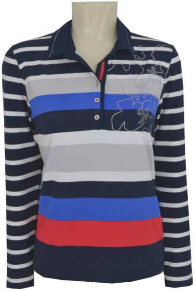 1/1 Arm Polo Shirt mit Print