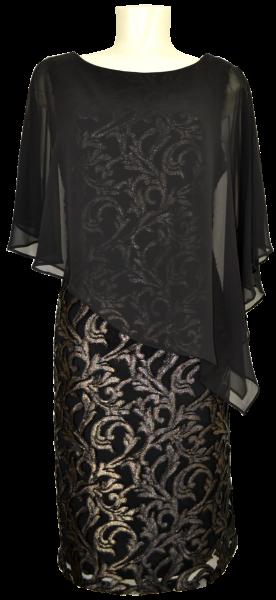 Mittellanges Kleid in schwarz-gold