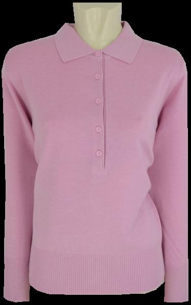 Pullover mit Kragen in uni rose