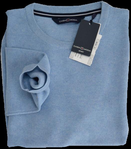 Pullover mit Rundhals in hell blau
