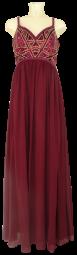 Ballkleid lang in deep red