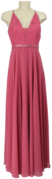 Langes Ballkleid in hot rosè