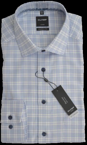 Freizeithemd und Cityhemd in dezent kariert mit hell bleu