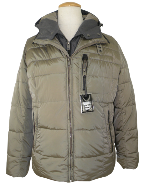 Warme Outdoor Steppjacke in oliv