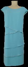 Kleid mit überschnittenem Arm in hell türkis