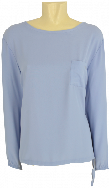 Shirt-Bluse mit 1/1 Arm in bleu