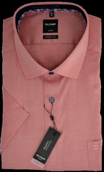 1/2 Arm Freizeithemd mit dezenter Struktur in rose-rot