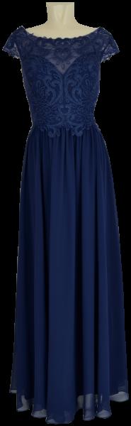 Langes Ballkleid mit Glanz in navy-blue
