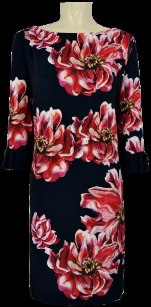 Mittellanges Kleid mit floralem Druck
