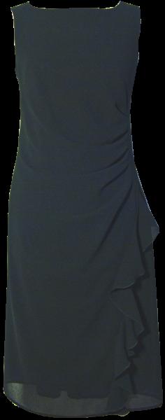 Chiffon Etuikleid in schwarz