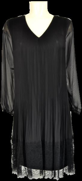 Mittellanges Kleid in schwarz