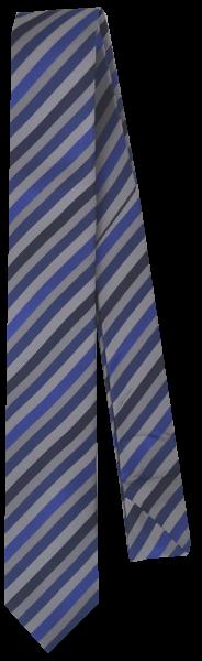 Krawatte reine Seide in Schwarz/Grau/Blau gestreift