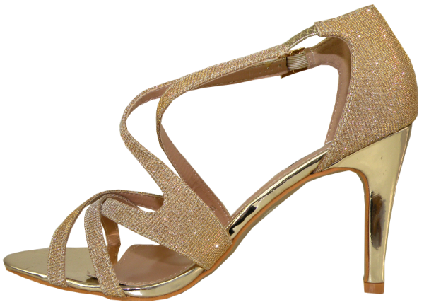 Plateausandalette in Gold