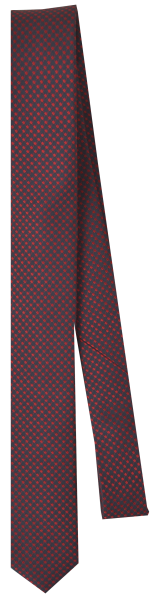 Krawatte reine Seide in rot fein gemustert
