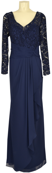Langes Ballkleid in marine blau