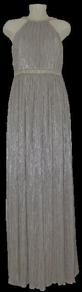 Langes Ballkleid in silver-gold metallic
