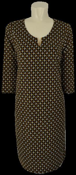 Mittellanges Kleid in mehrfarbig gemustert