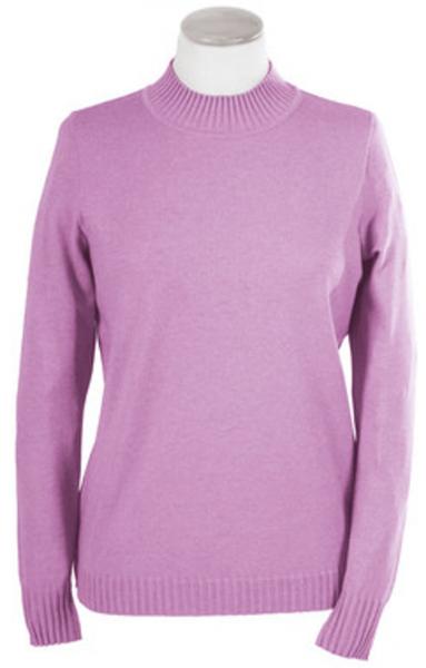 Pullover mit Stehbund in rose