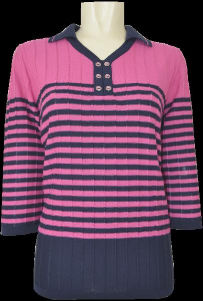3/4 Arm Pullover mit Polo Kragen