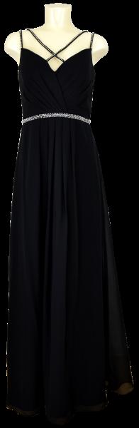 Ballkleid lang aus Chiffon in schwarz