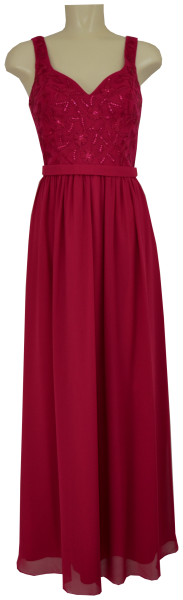 Langes Ballkleid in cherry pink