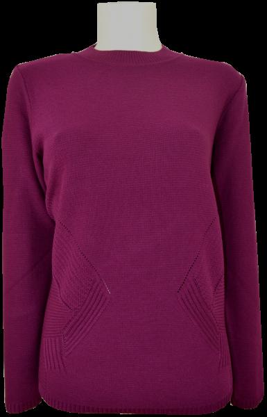 Pullover mit Stehbund in weinrot