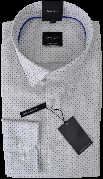 Hemd in weiß mit feinem Muster