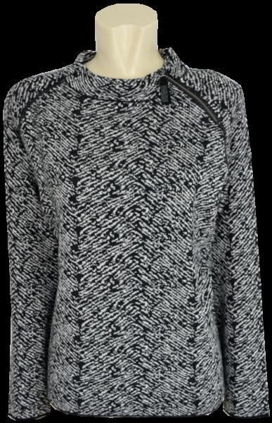 Pullover mit Print in schwarz-weiß
