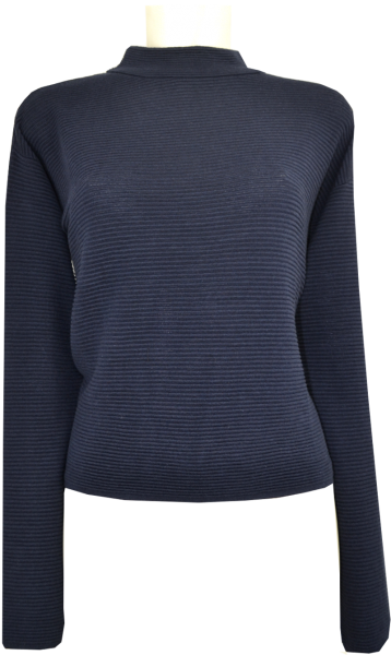Pullover in marine in Rippen Optik